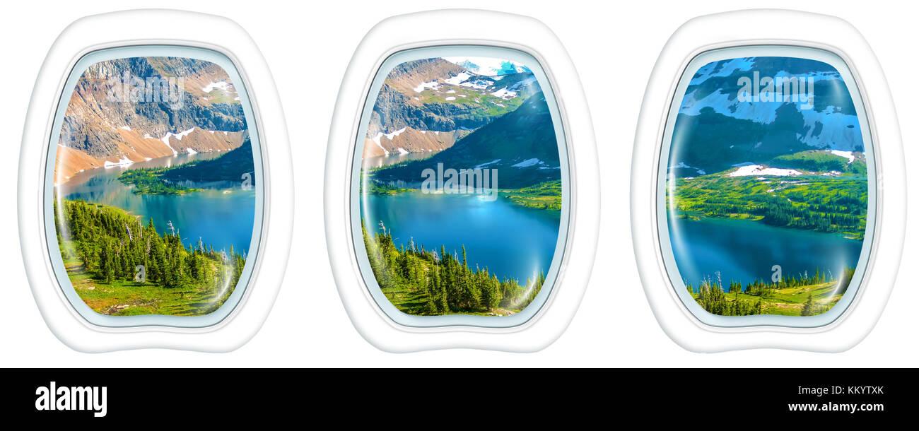 Porthole Hidden Lake Glacier - Stock Image
