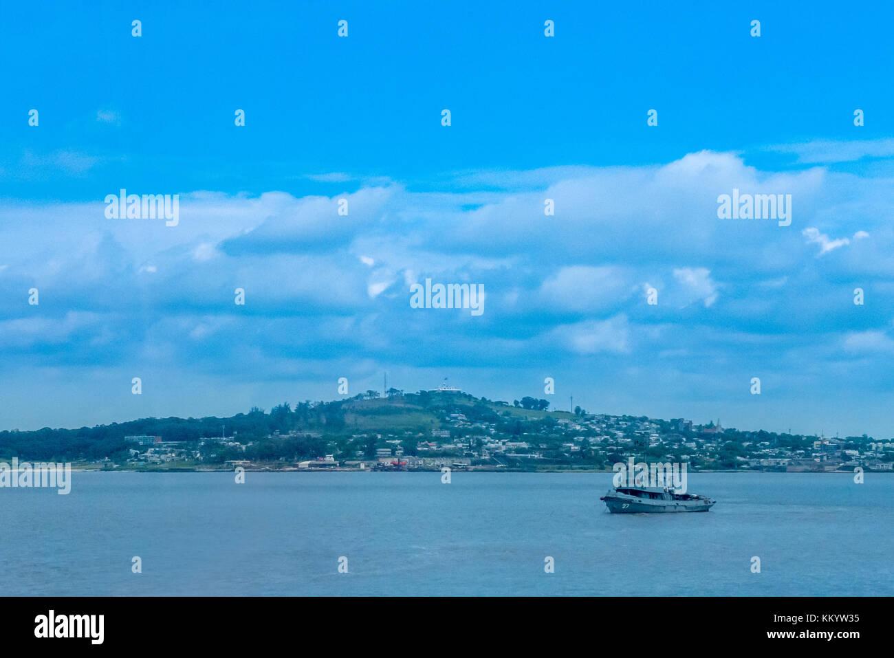 Looking across the bay in Montevideo, Uruguay Stock Photo