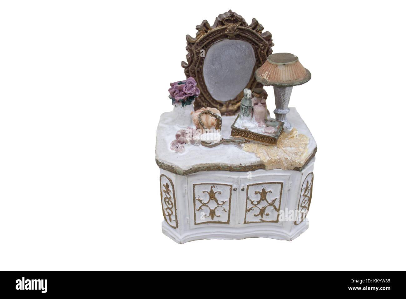 Souvenir box for storing various small things - Stock Image