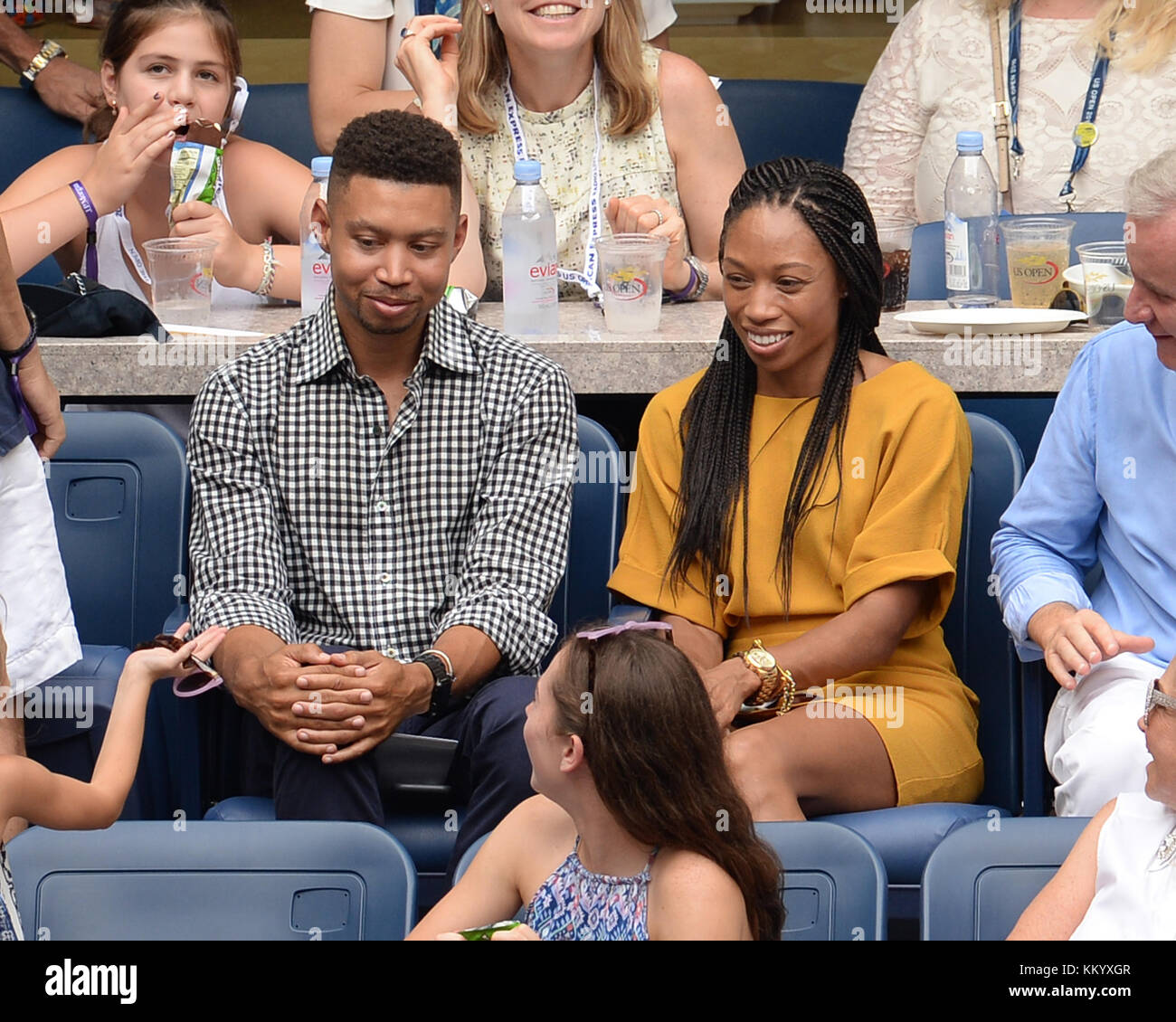 Allyson Is Watching new york, ny - september 10: allyson felix sighted watching