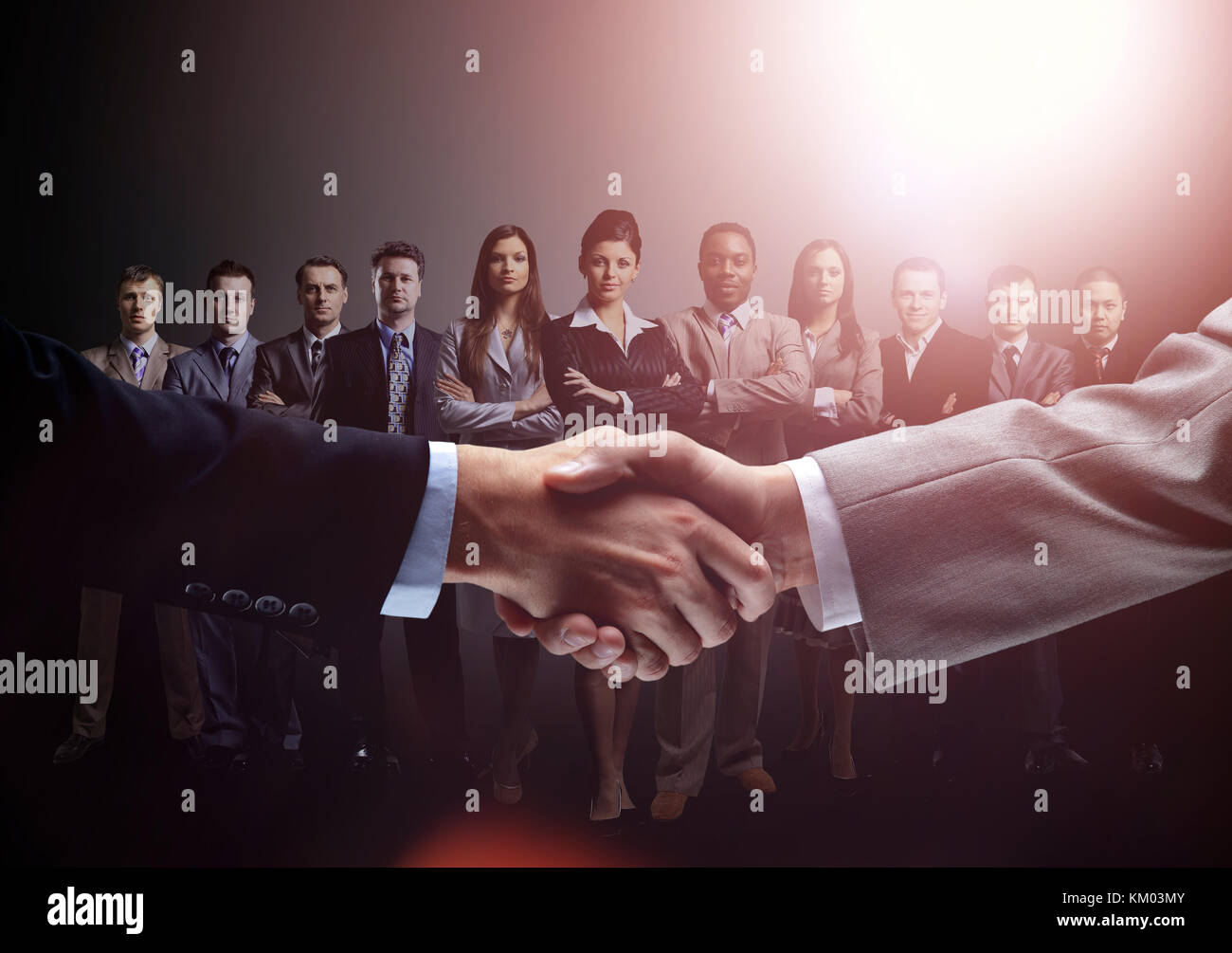 concept of a professional business team and reliable partnership - Stock Image