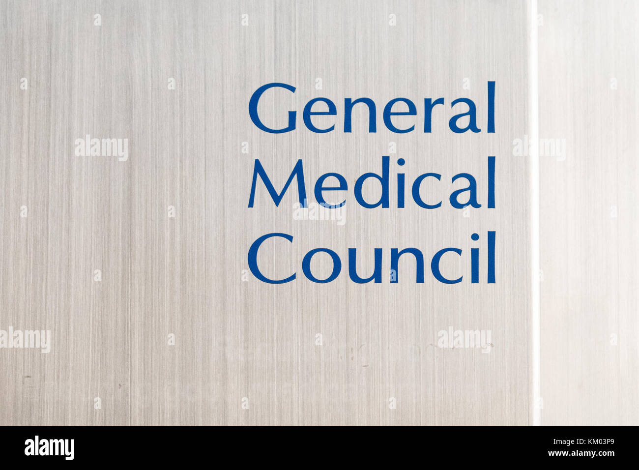 General Medical Council sign in Edinburgh, Scotland, UK - Stock Image