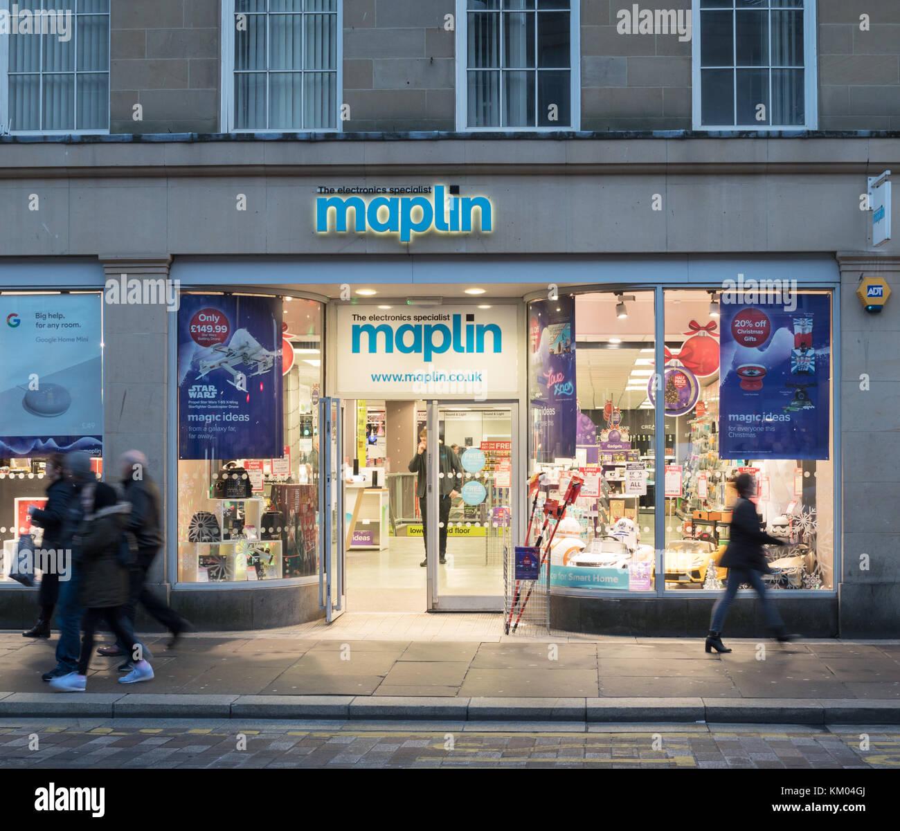 Maplin store front, Newcastle upon Tyne, England, UK - Stock Image