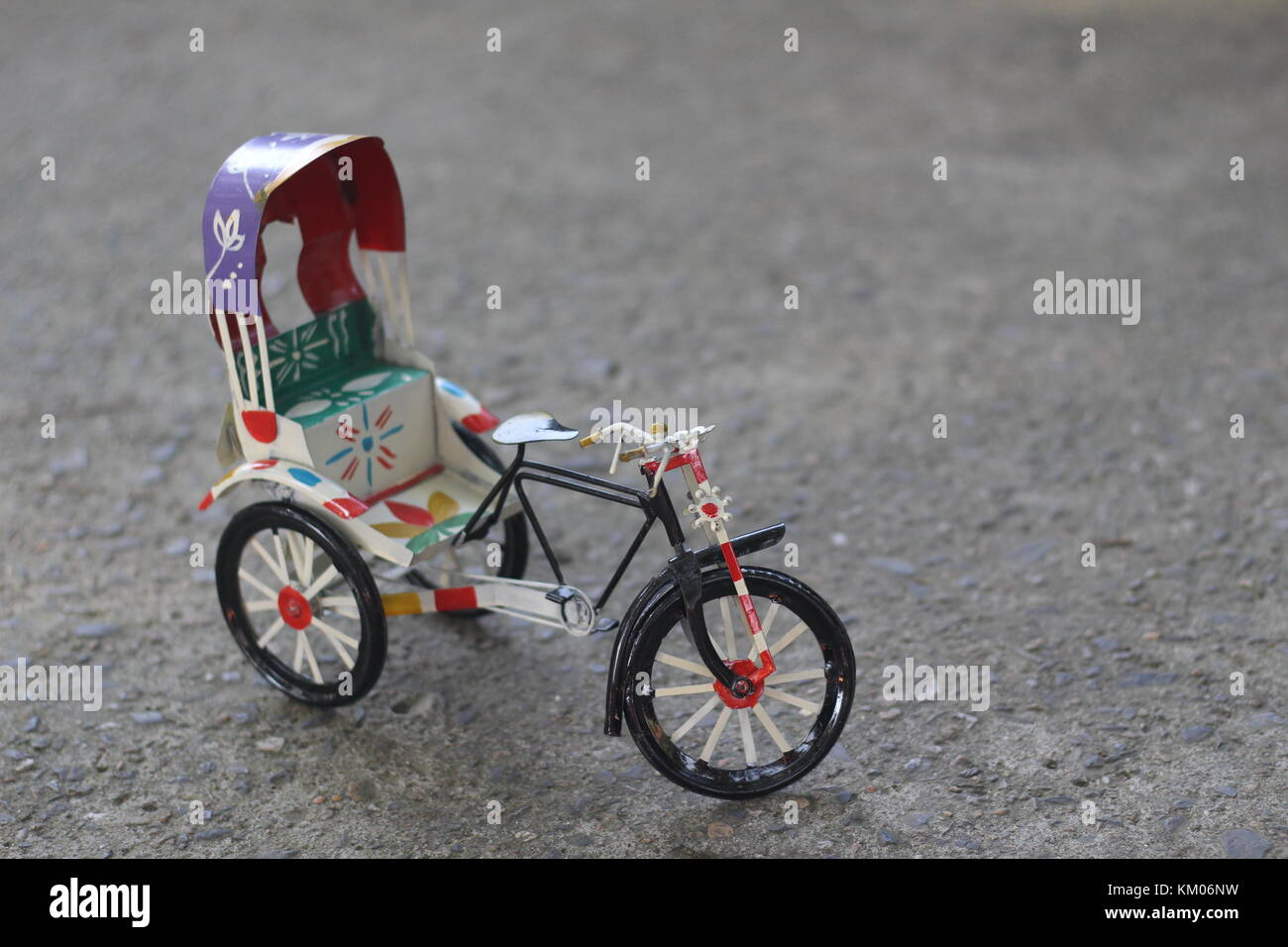 Rickshaw toy Bengali culture - Stock Image