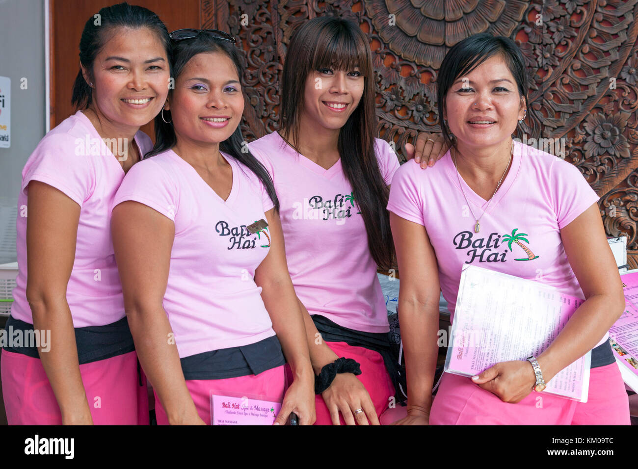 Thai massage girl, Phuket, Thailand - Stock Image