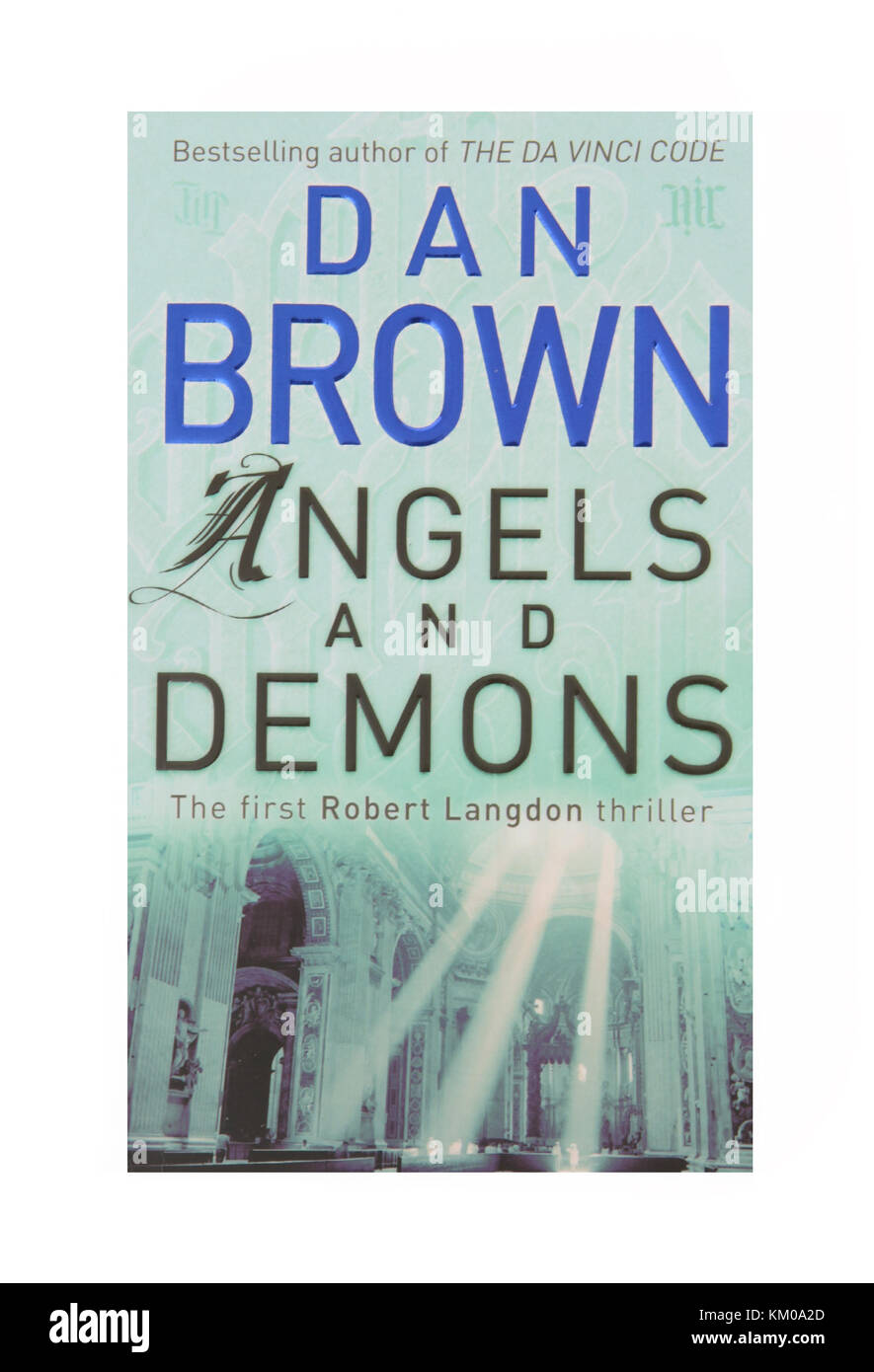 The book Angels and Demons by Dan Brown - Stock Image
