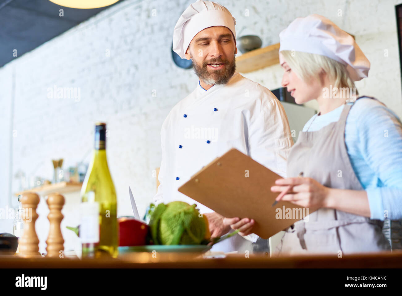 Sharing Culinary Secrets - Stock Image
