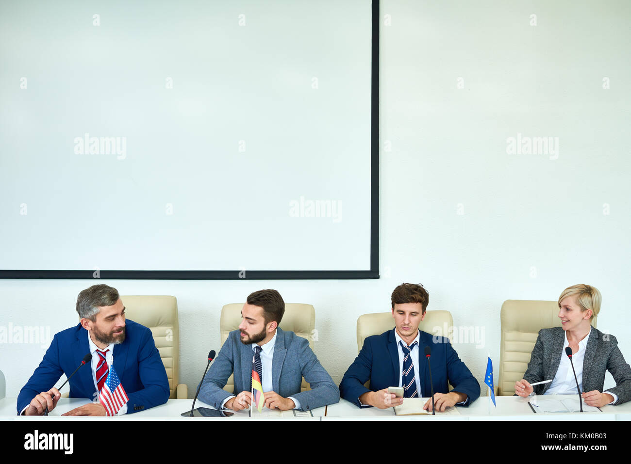 Members of International Conference - Stock Image