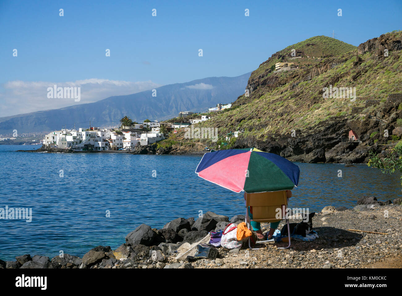 The small fishing village El Varadero at Tabaiba, nort-east of island, Tenerife island, Canary islands, Spain - Stock Image
