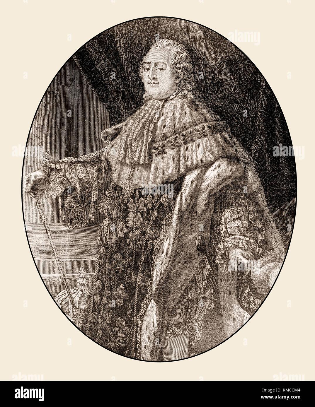 Louis XVI, king of France - Stock Image