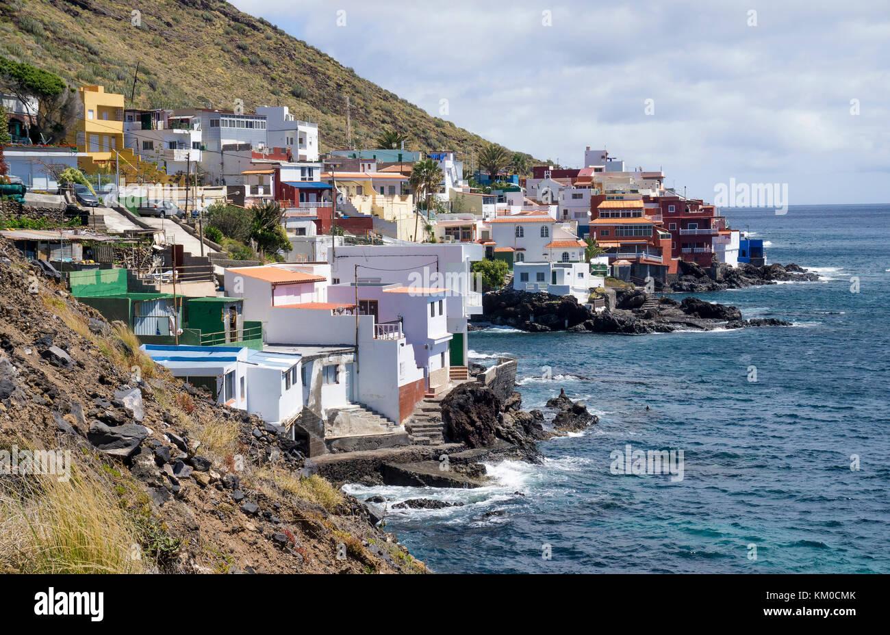 The tiny fishing village Boca Cangrejo south-east of Tenerife island, Canary islands, Spain - Stock Image