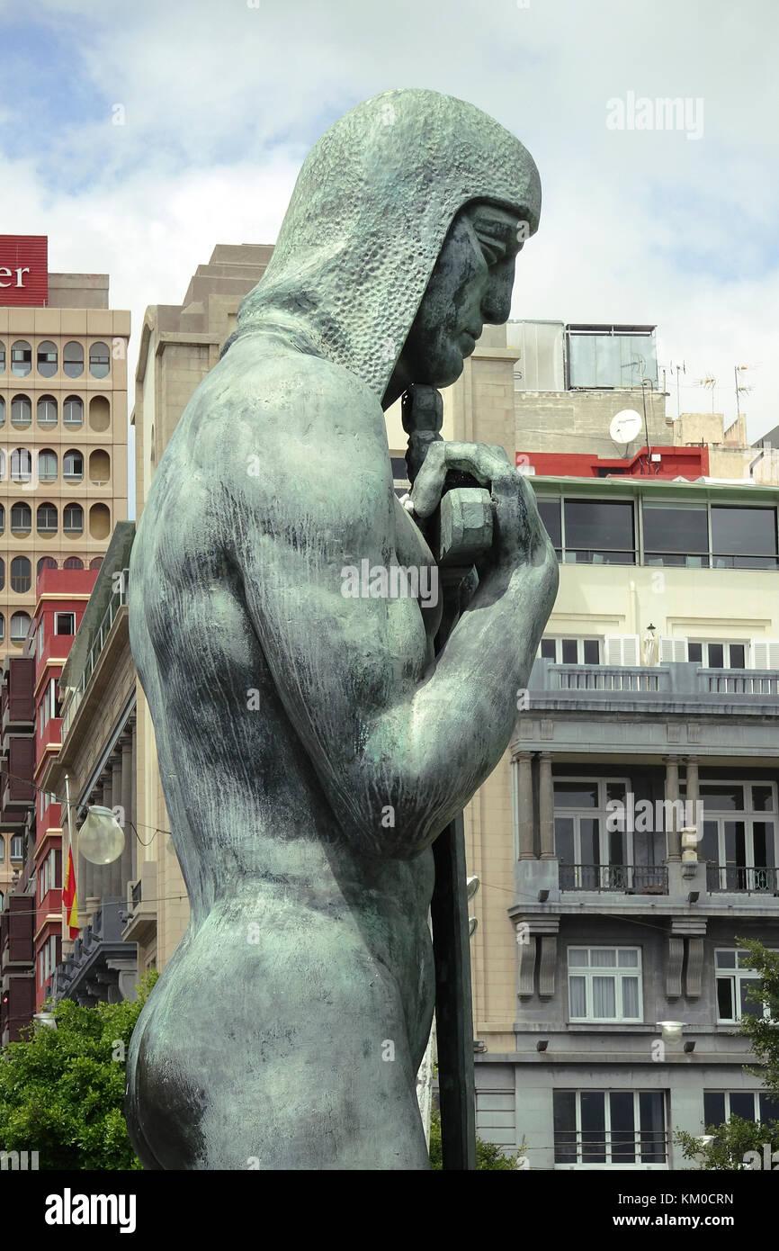 Monumento a los Caidos, memorial for fallen people at civil war, Place d'Espagne, Santa Cruz de Tenerife, capital - Stock Image