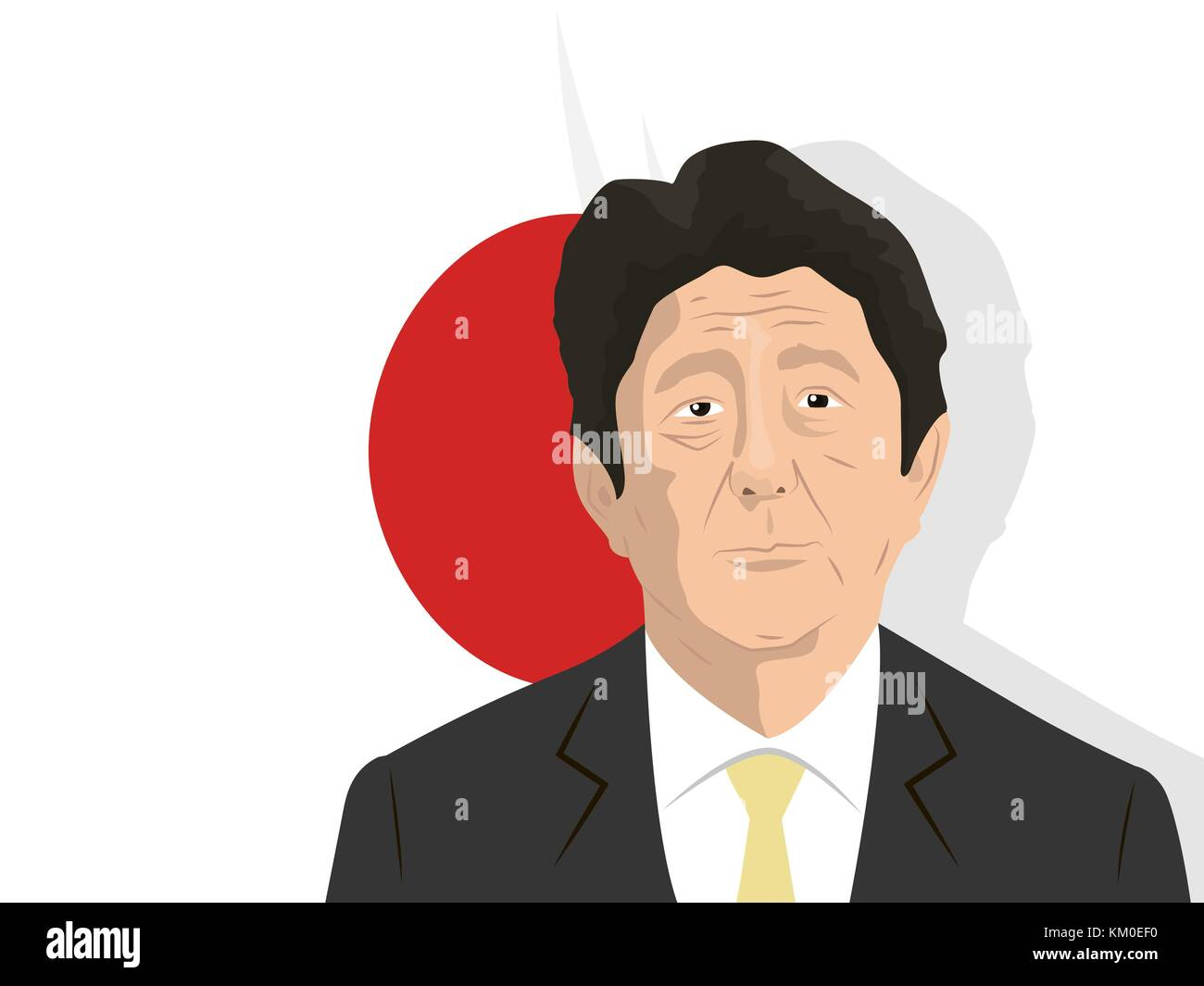 02.12.2017 Editorial illustration of the Prime Minister of Japan Shinzo Abe - Stock Image