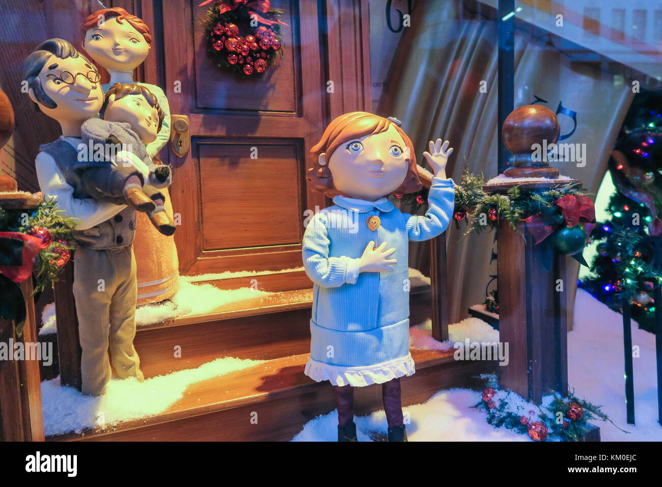 Christmas Season at R.H. Macy Flagship Department Store in Herald Square, NYC, USA - Stock Image
