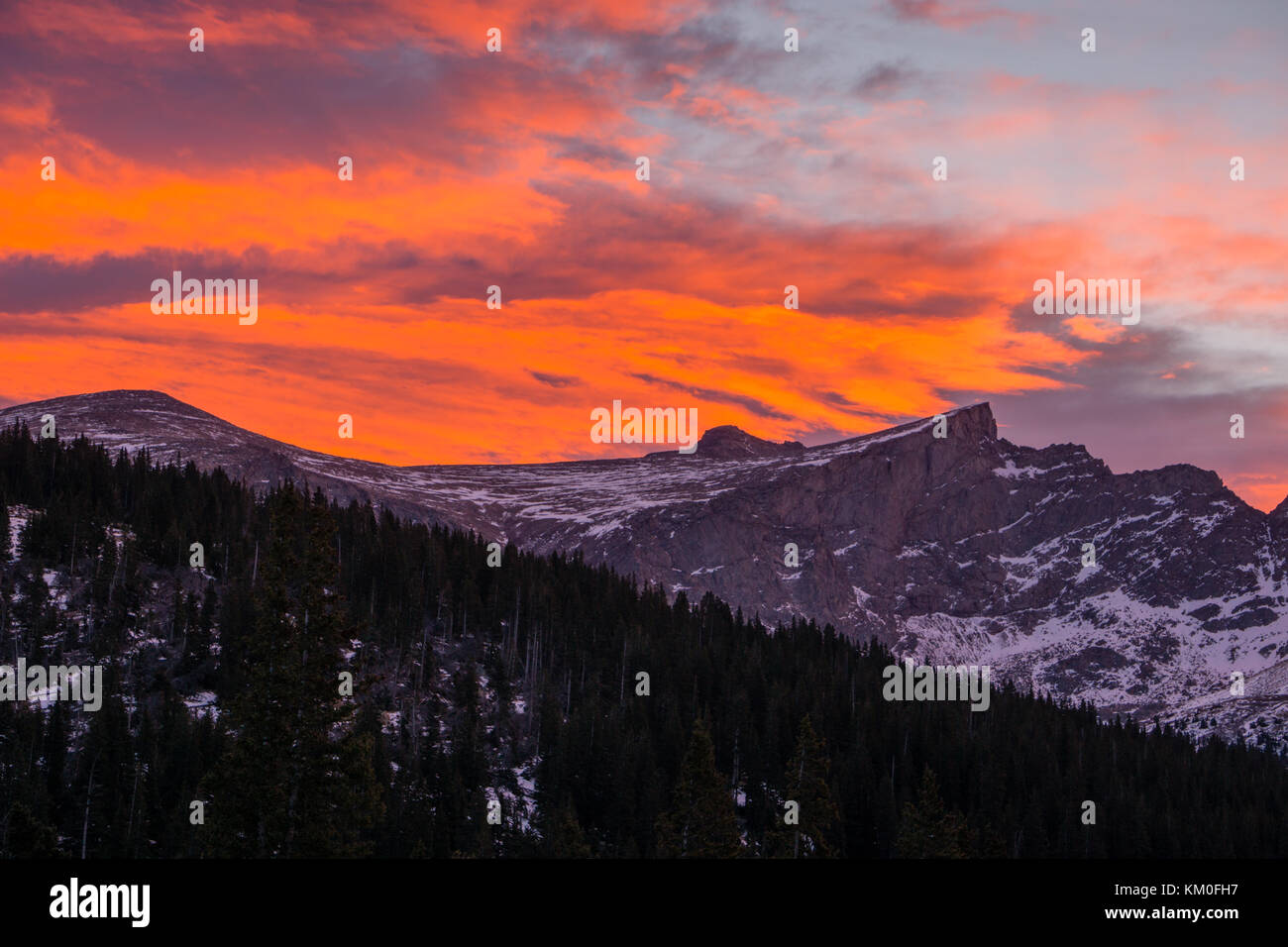 The Sawtooth, from Guanella Pass, Colorado. - Stock Image