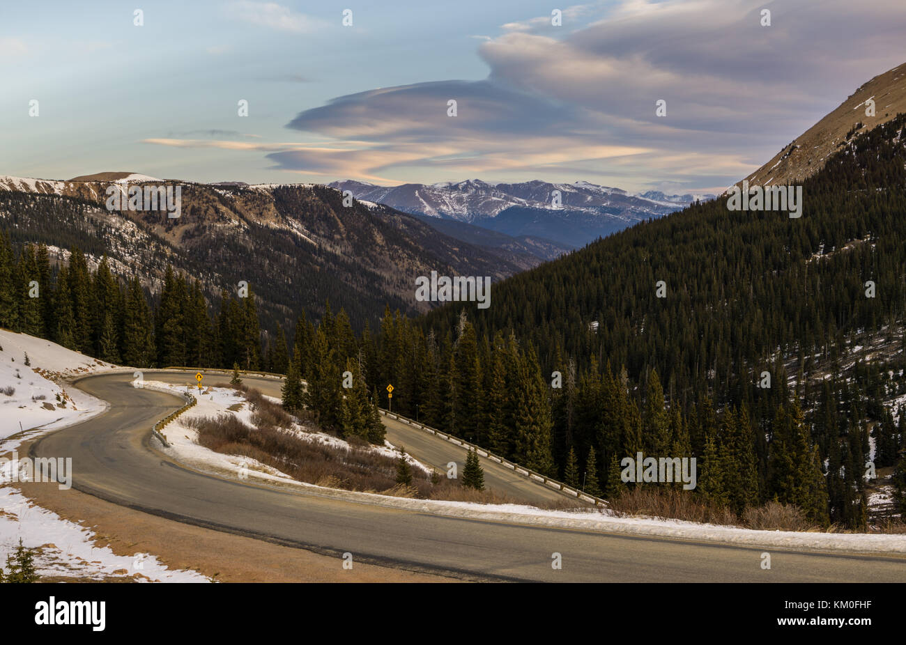 Guanella Pass in early winter.  Georgetown, Colorado. - Stock Image