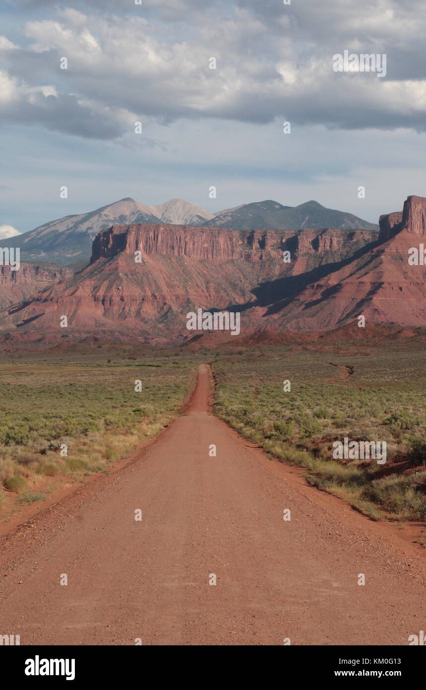 Western Country Road Landscape Utah Usa Perfect