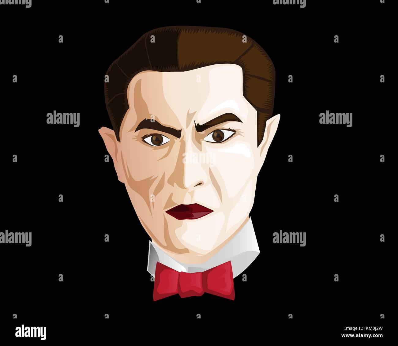 vampire clip art - Stock Image