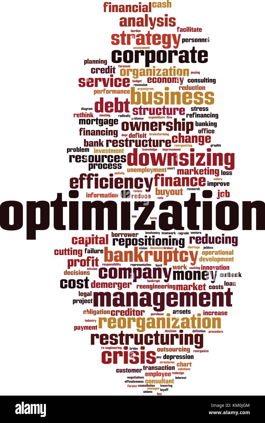 Optimization word cloud concept. Vector illustration - Stock Vector