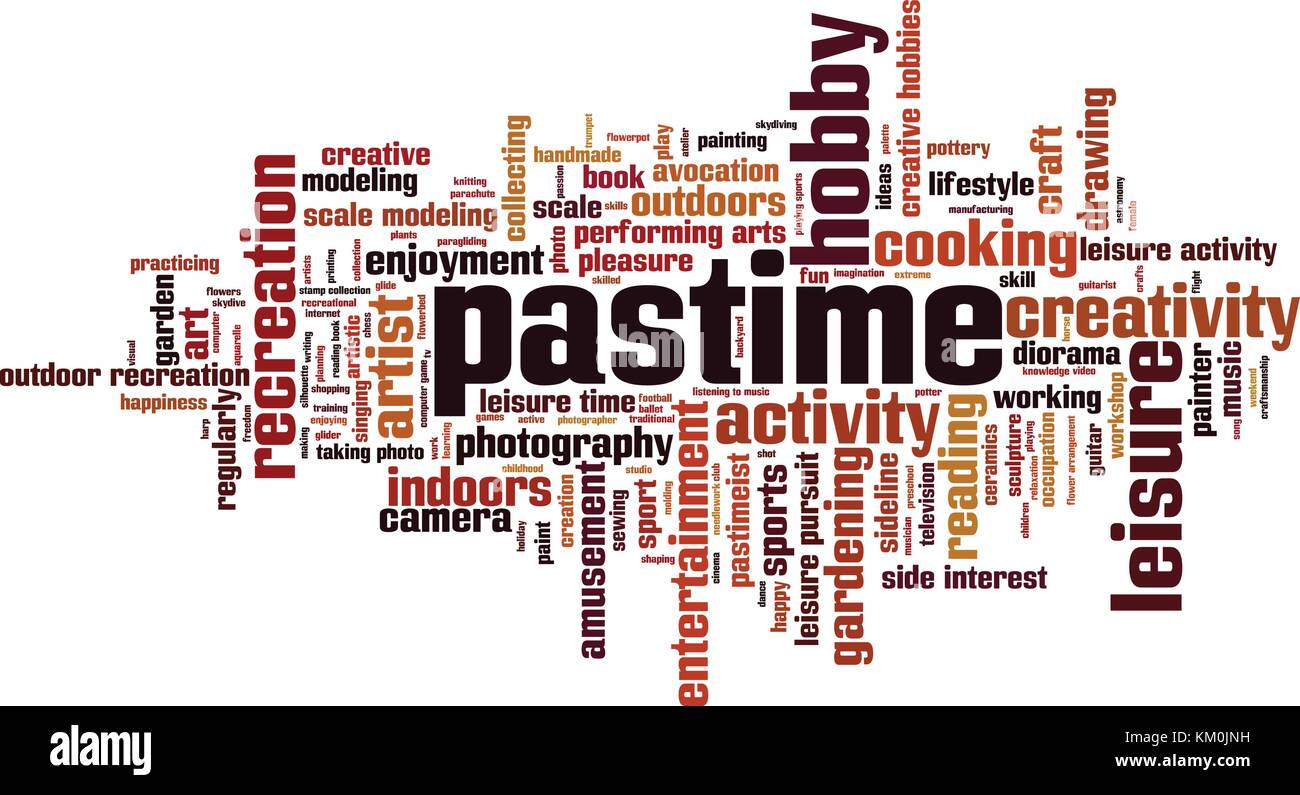 Pastime word cloud concept. Vector illustration - Stock Vector