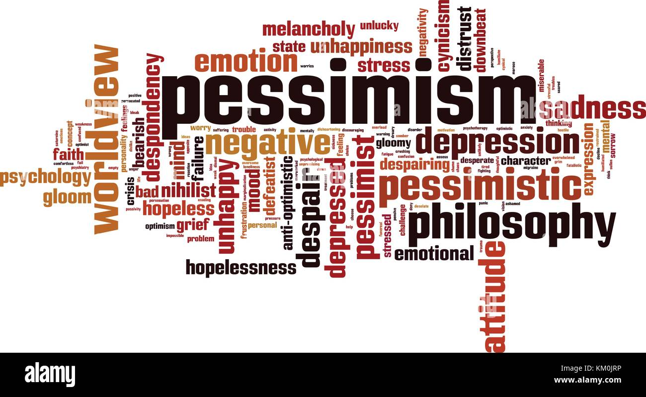 Pessimism word cloud concept. Vector illustration - Stock Vector
