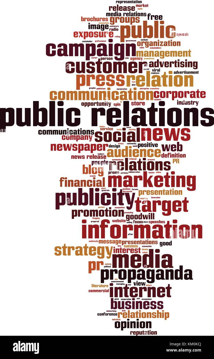 Public relations word cloud concept. Vector illustration - Stock Vector
