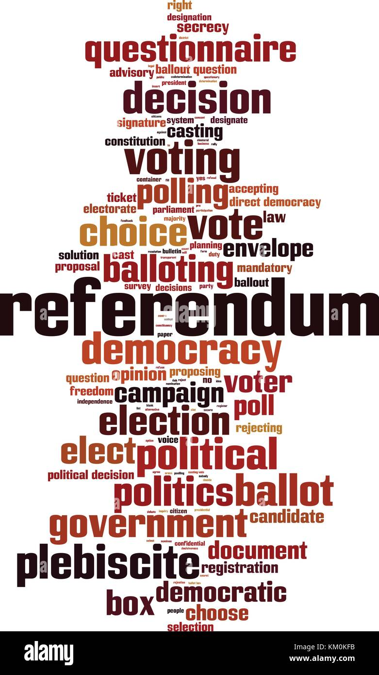 Referendum word cloud concept. Vector illustration Stock Vector