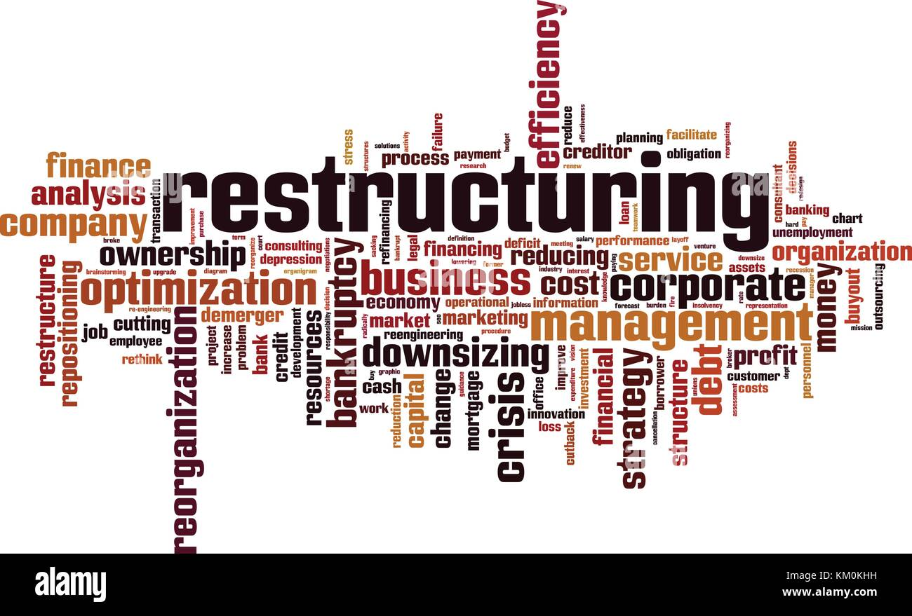 Restructuring word cloud concept. Vector illustration - Stock Vector