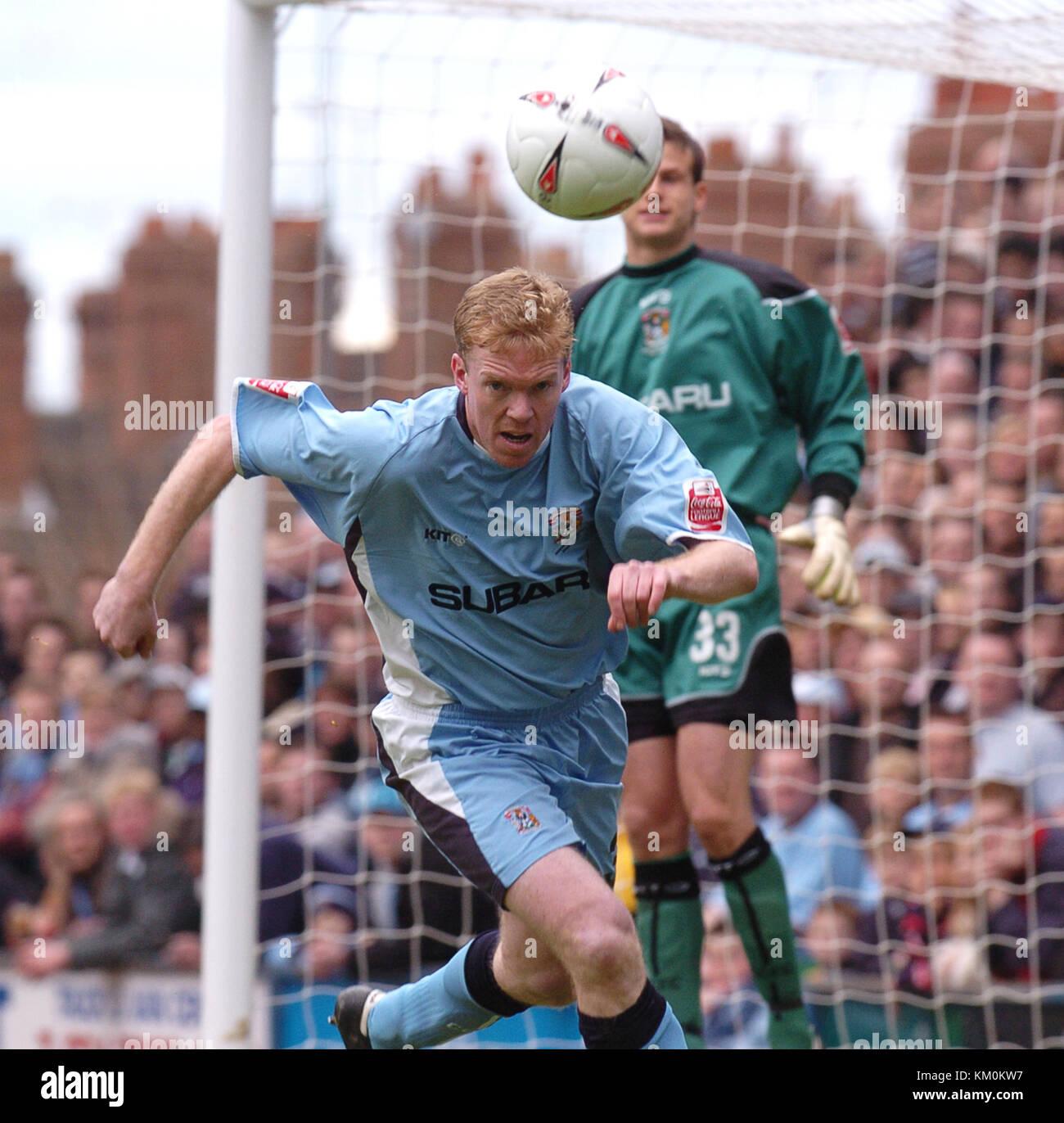Footballer Steve Staunton Coventry City v Wolverhampton Wanderers at Highfield Road 16/4/05 - Stock Image