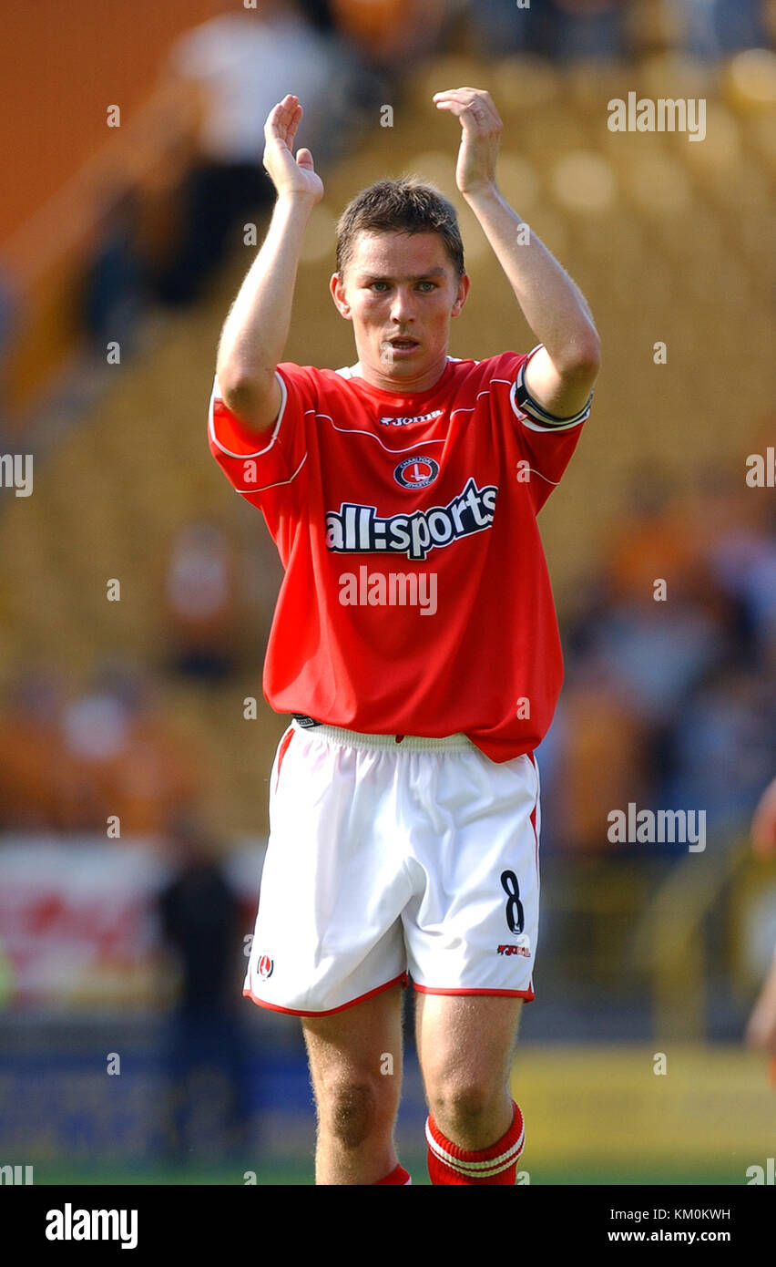 Footballer Matt Holland Wolverhampton Wanderers v Charlton Athletic 23 August 2003 - Stock Image