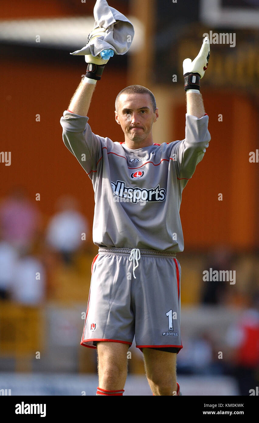 Footballer Dean Kiely Wolverhampton Wanderers v Charlton Athletic 23 August 2003 - Stock Image