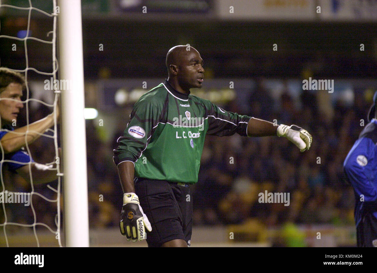 Crewe Alexandra goalkeeper Ade Bankole 16 October 2001 - Stock Image