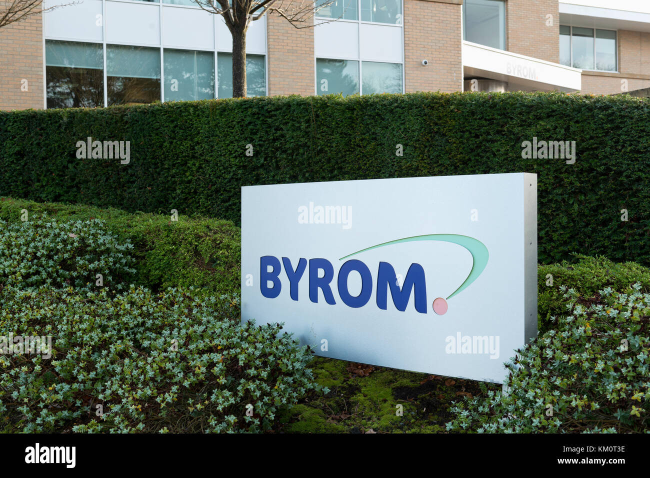 Byrom Plc is home of MATCH Ticketing, FIFA's ticketing service provider. This Byrom office is located in Cheadle, - Stock Image
