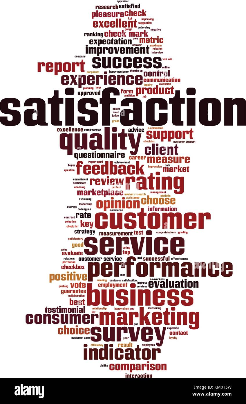 Satisfaction word cloud concept. Vector illustration - Stock Vector
