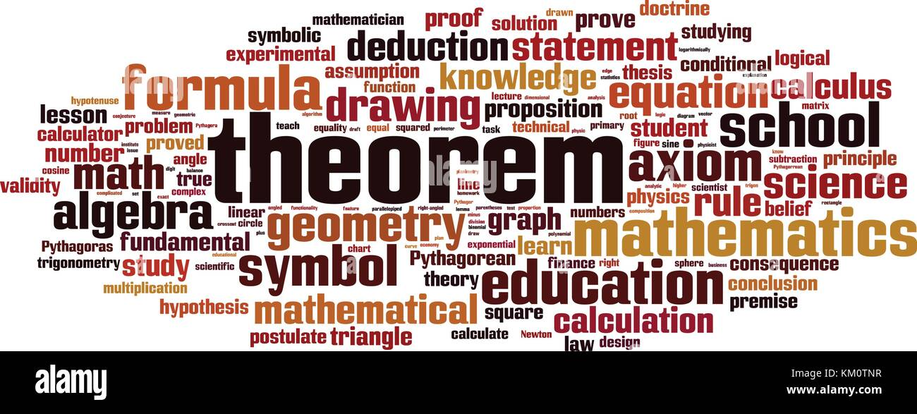 Theorem word cloud concept. Vector illustration - Stock Vector