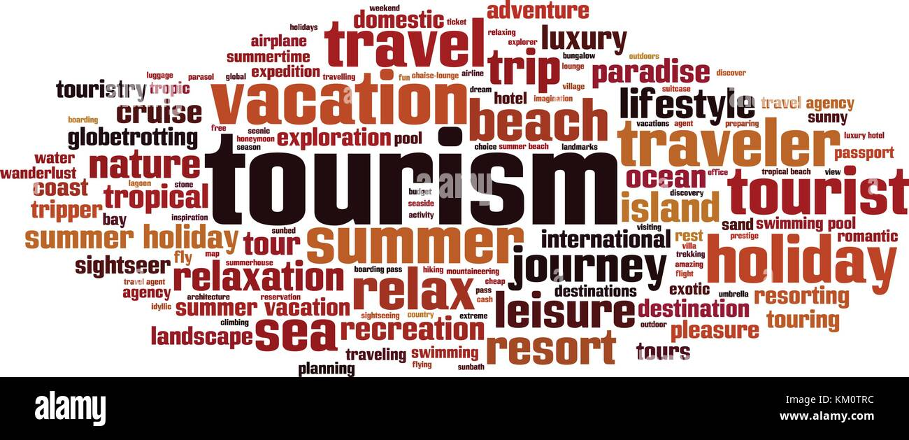 Tourism word cloud concept. Vector illustration - Stock Vector
