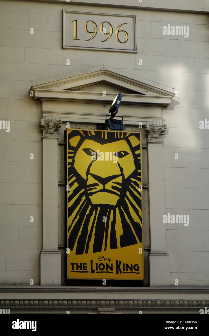 The Lion King at the Lyceum theatre - Stock Image
