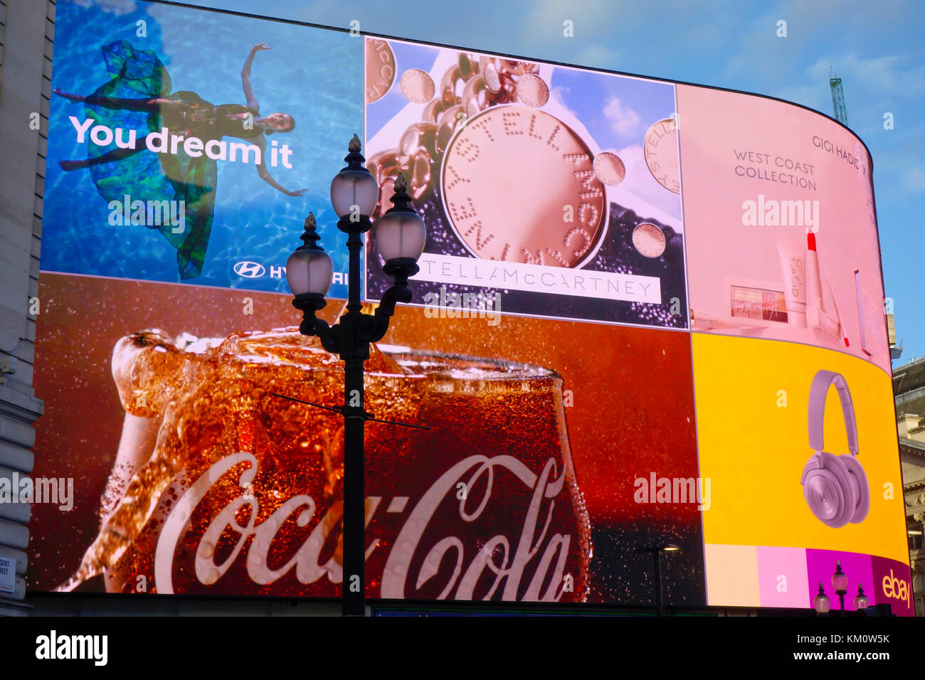"""The iconic Piccadilly Lights, now known as """"The Curve"""" at Piccadilly Circus, London. Stock Photo"""