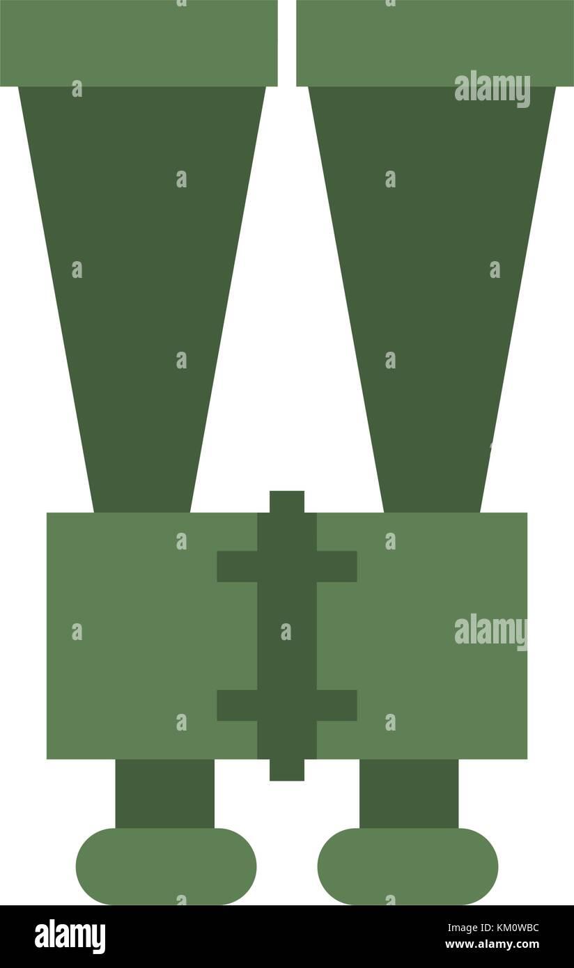 Binoculars spy object - Stock Vector