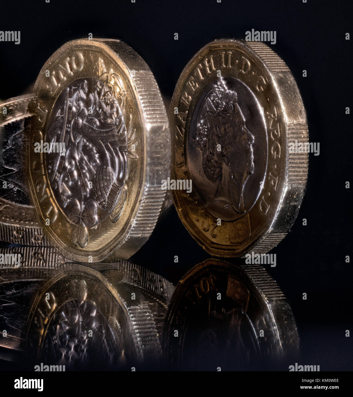 Coinage from the UK - Stock Image