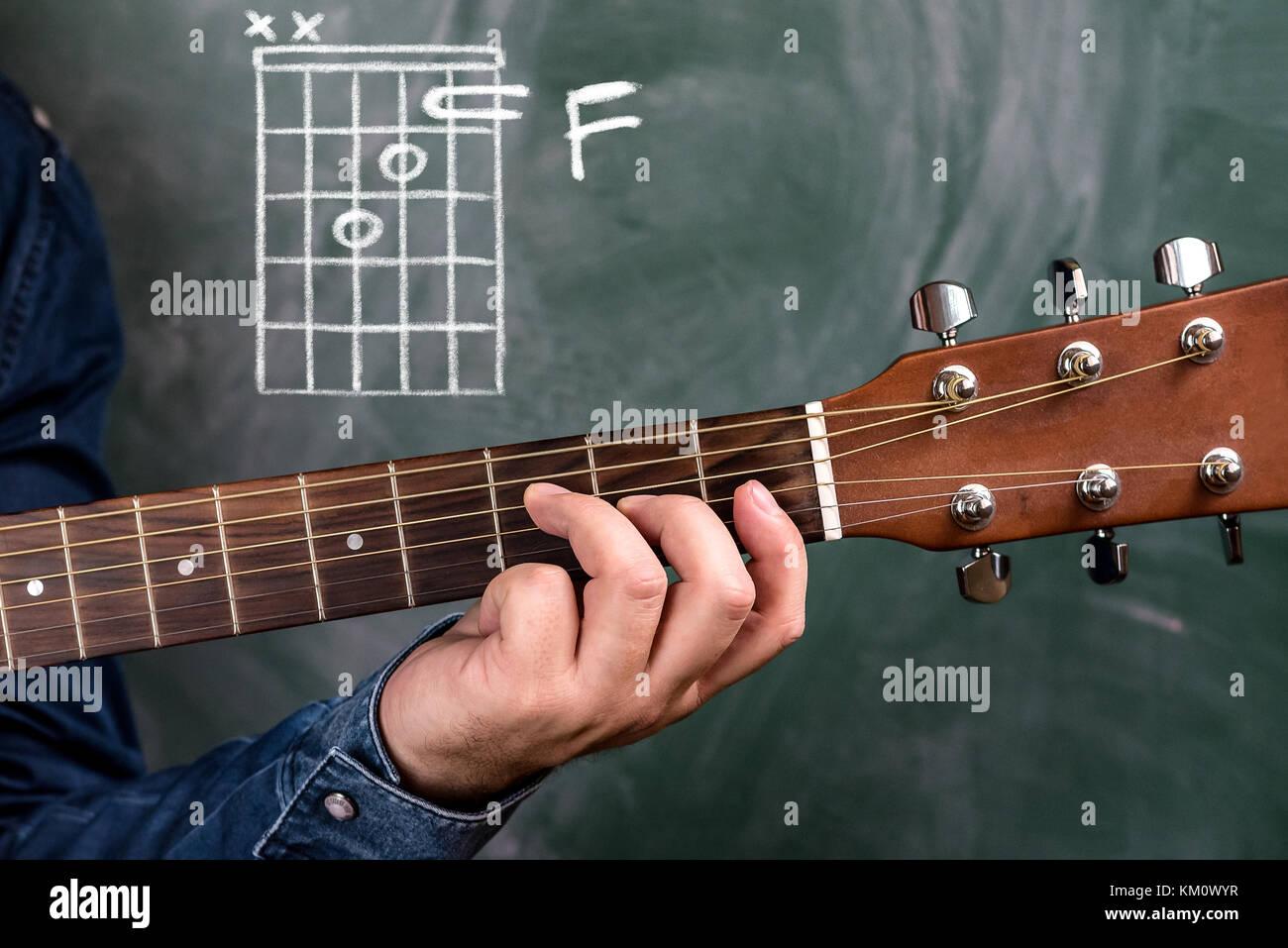 Fingers On Guitar Strings Stock Photos Fingers On Guitar Strings