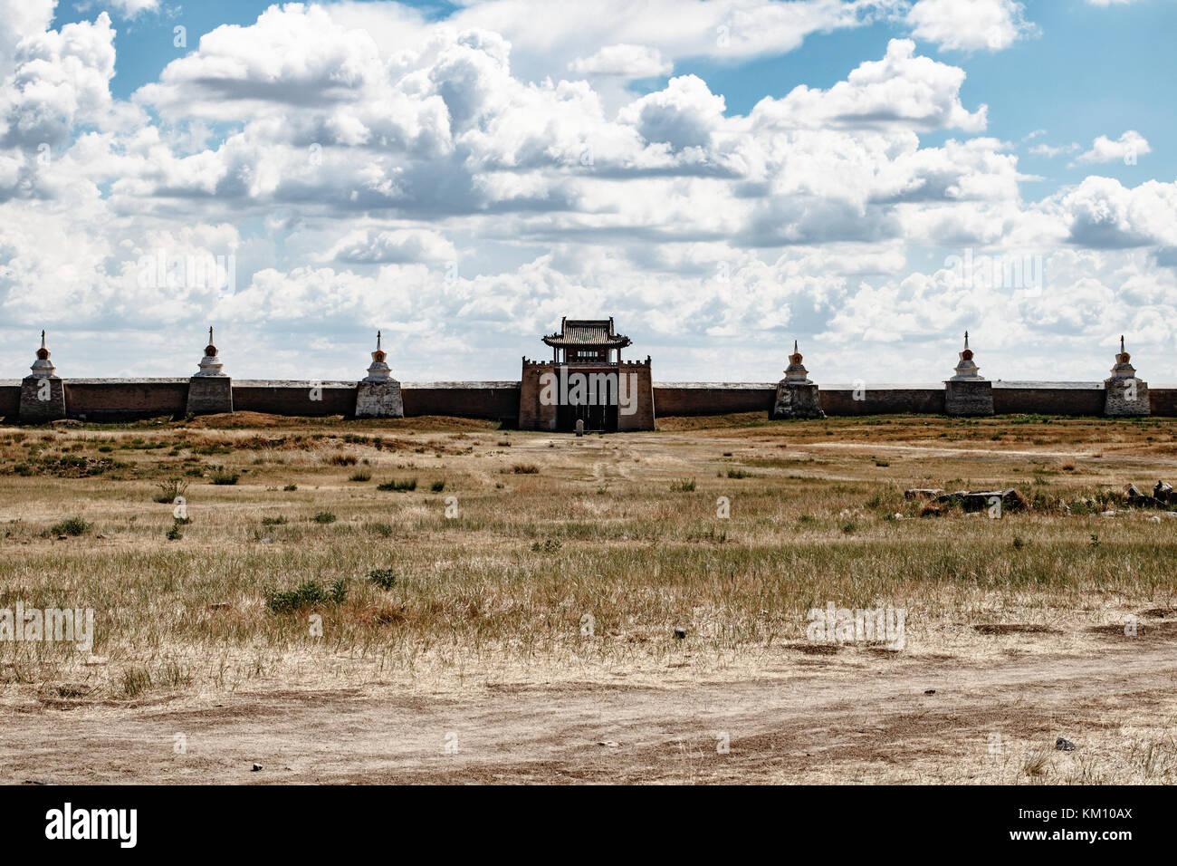 Monastery temple in Karakorum, capital of the mongolian empire Stock Photo