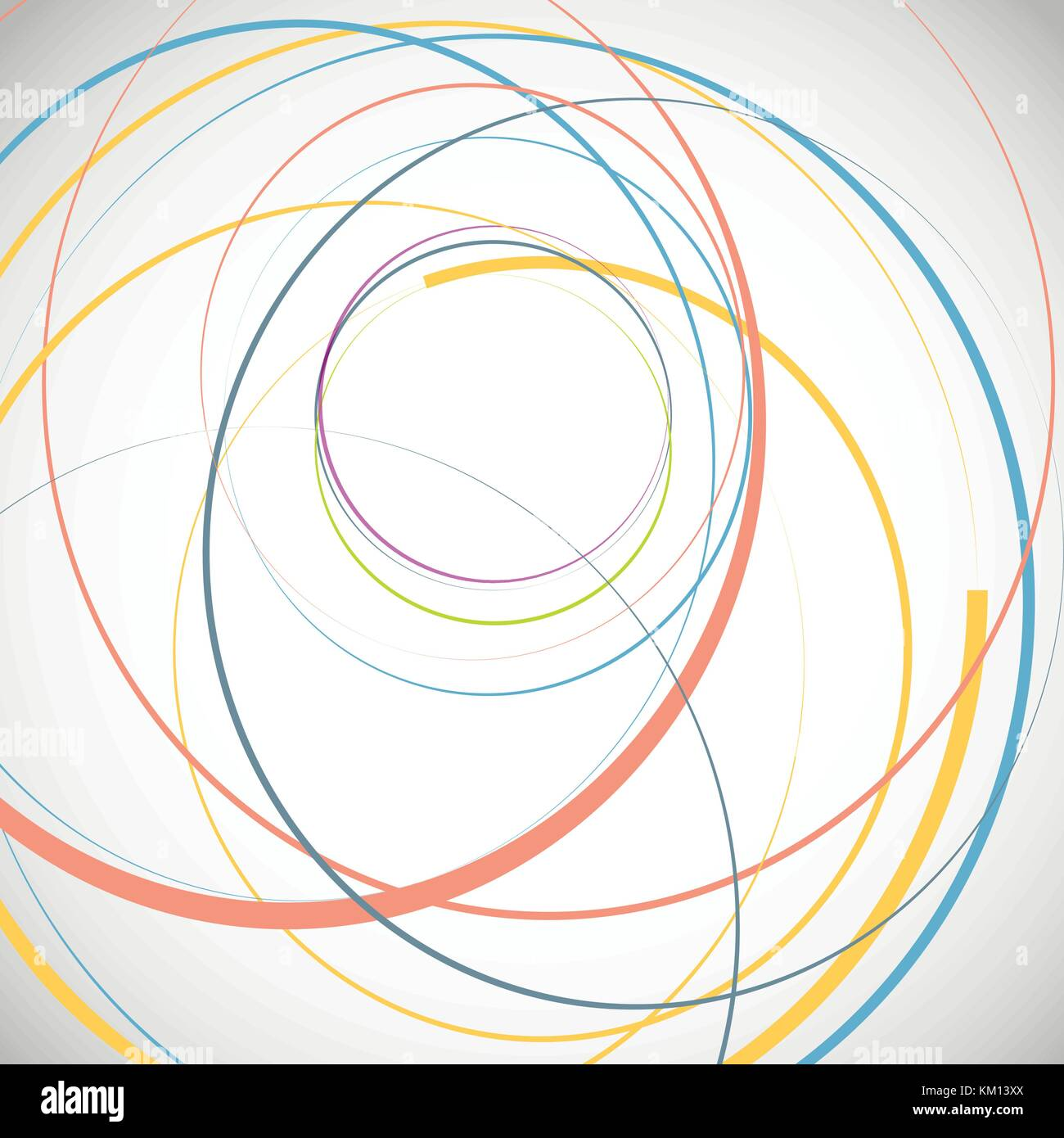 Abstract background with circles - Stock Image