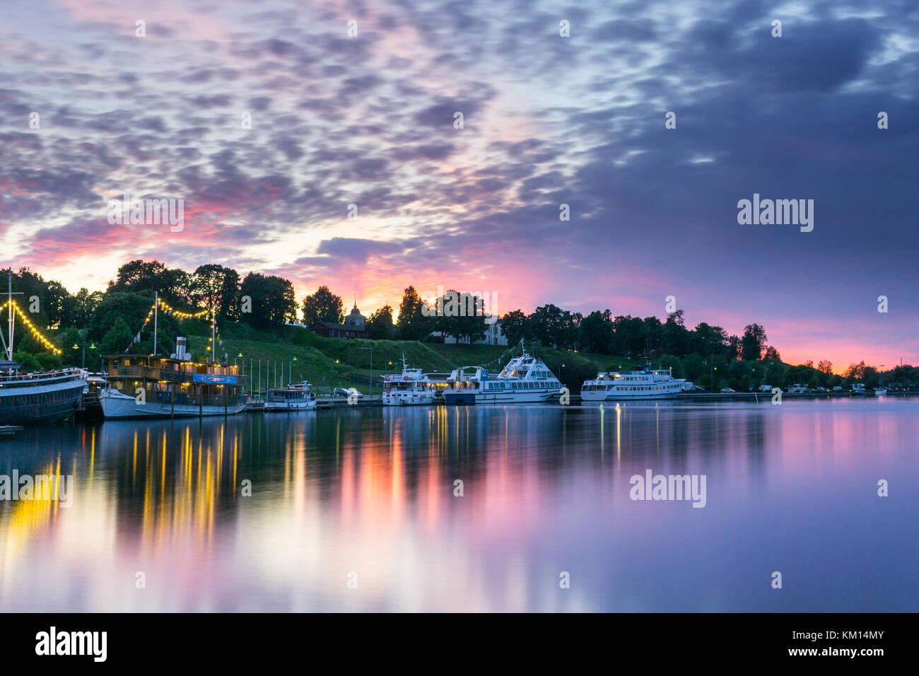 Lappeenrannan satama kesällä - Stock Image