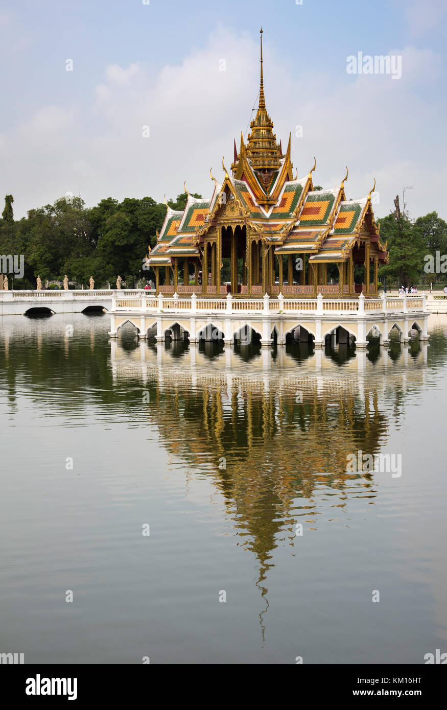 Aisawan Dhiphya-Asana Pavilion at Bang Pa-In Royal Palace, Thailand - Stock Image