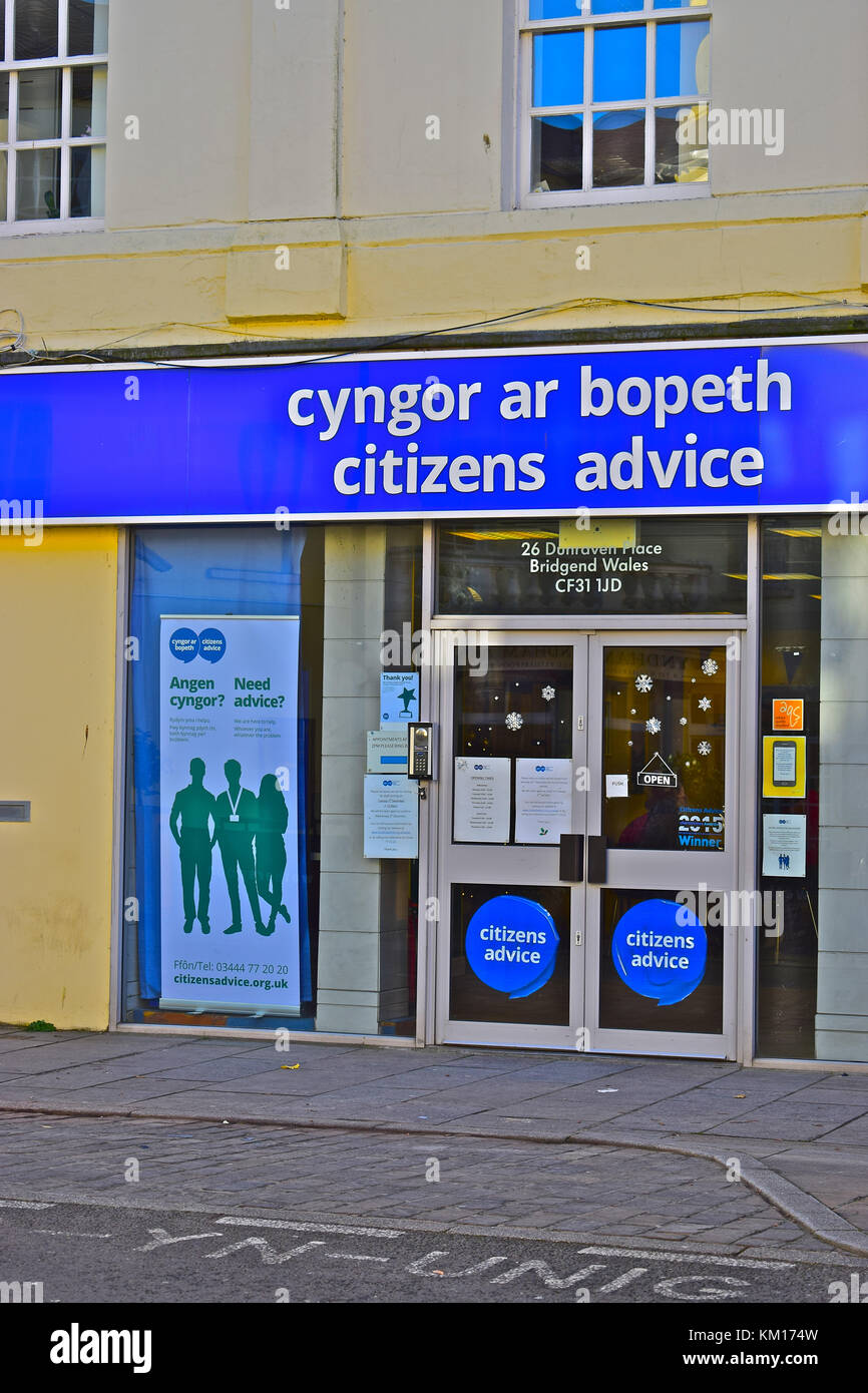 Citizens Advice, Bridgend Town Centre, S.Wales - Stock Image