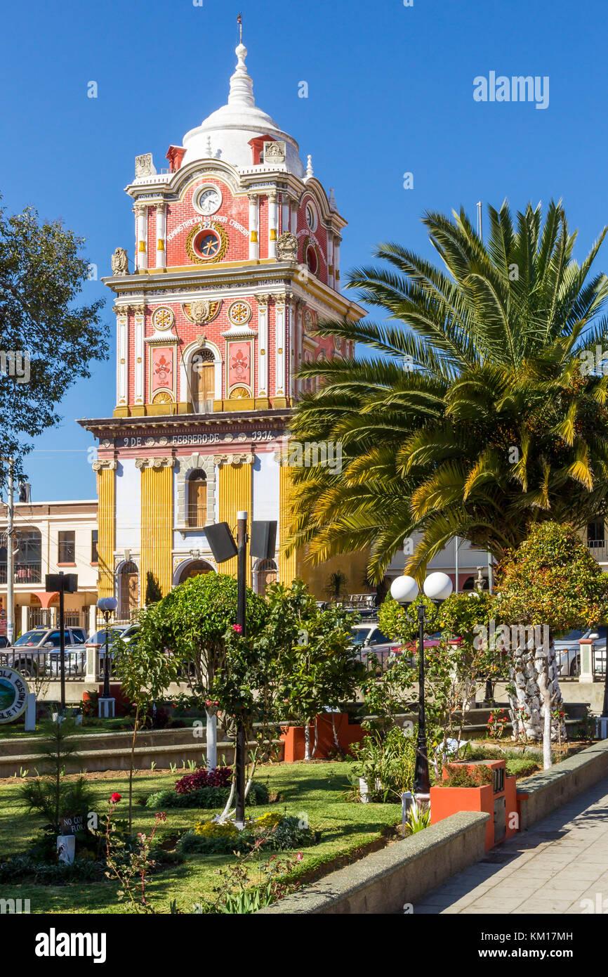 Town hall tower   Sololá   Guatemala - Stock Image