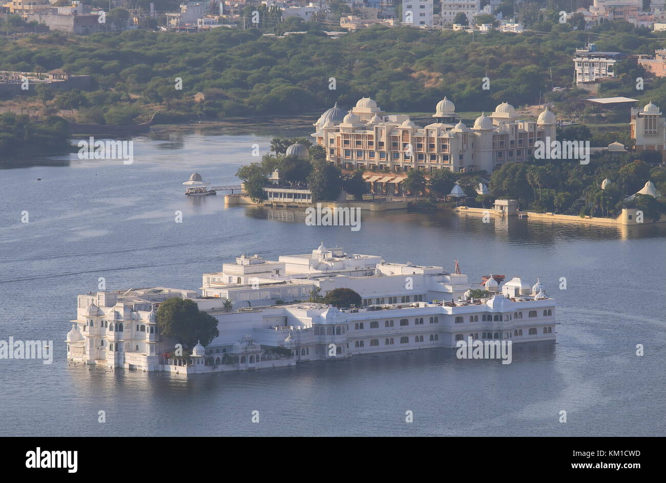 Cityscape of historical city Udaipur India - Stock Image
