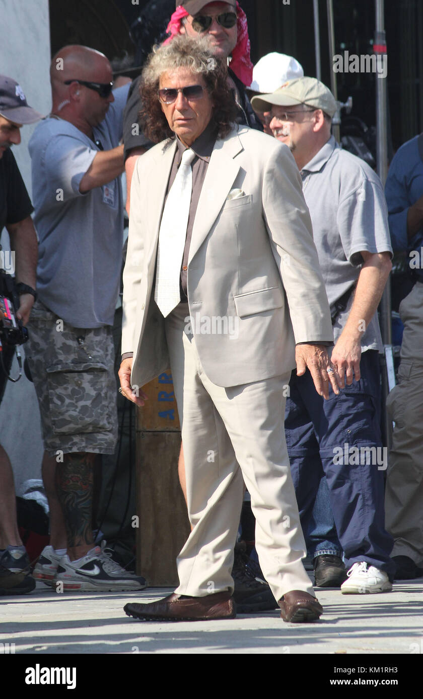 MINEOLA,, NY - AUGUST 02: Al Pacino while filming the yet-to-be-title motion picture on music producer Phil Spector. - Stock Image