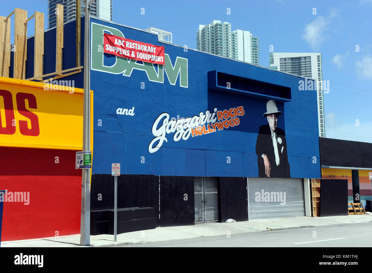 MIAMI BEACH, FL - JUNE 18:  First pixs of Rock Of Ages set staring Tom Cruise.  The studio took over a poor crime - Stock Image
